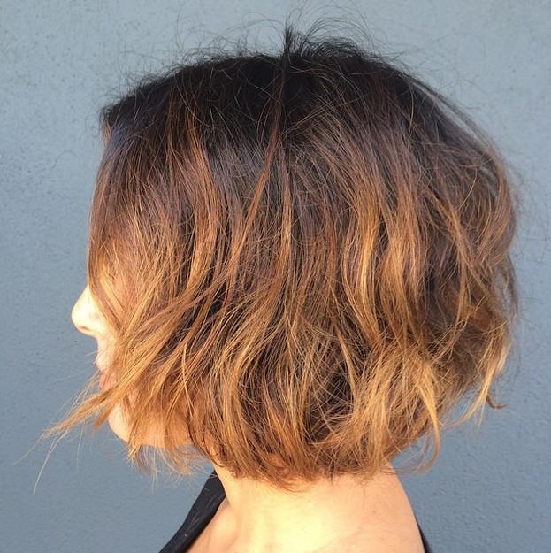 choppy hair
