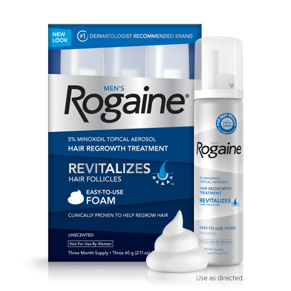 Foam or liquid rogaine