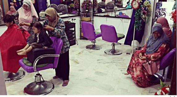 salun rambut muslimah
